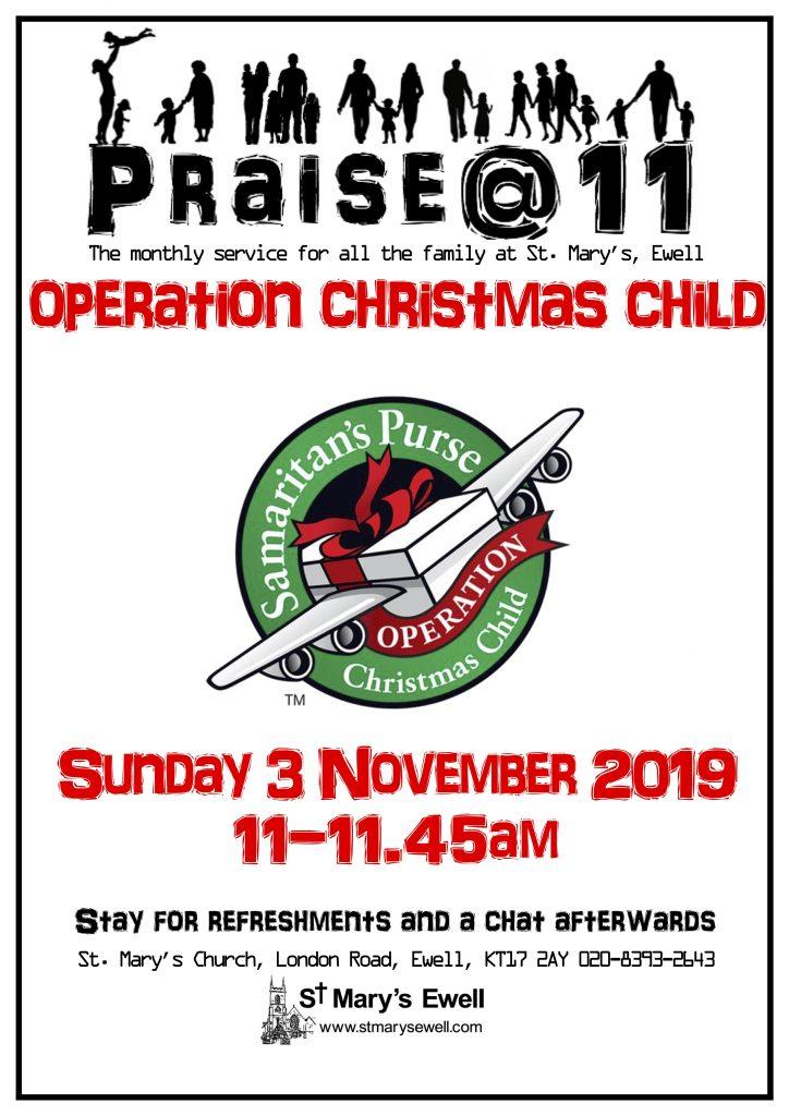 Praise@11 Operation Christmas Child