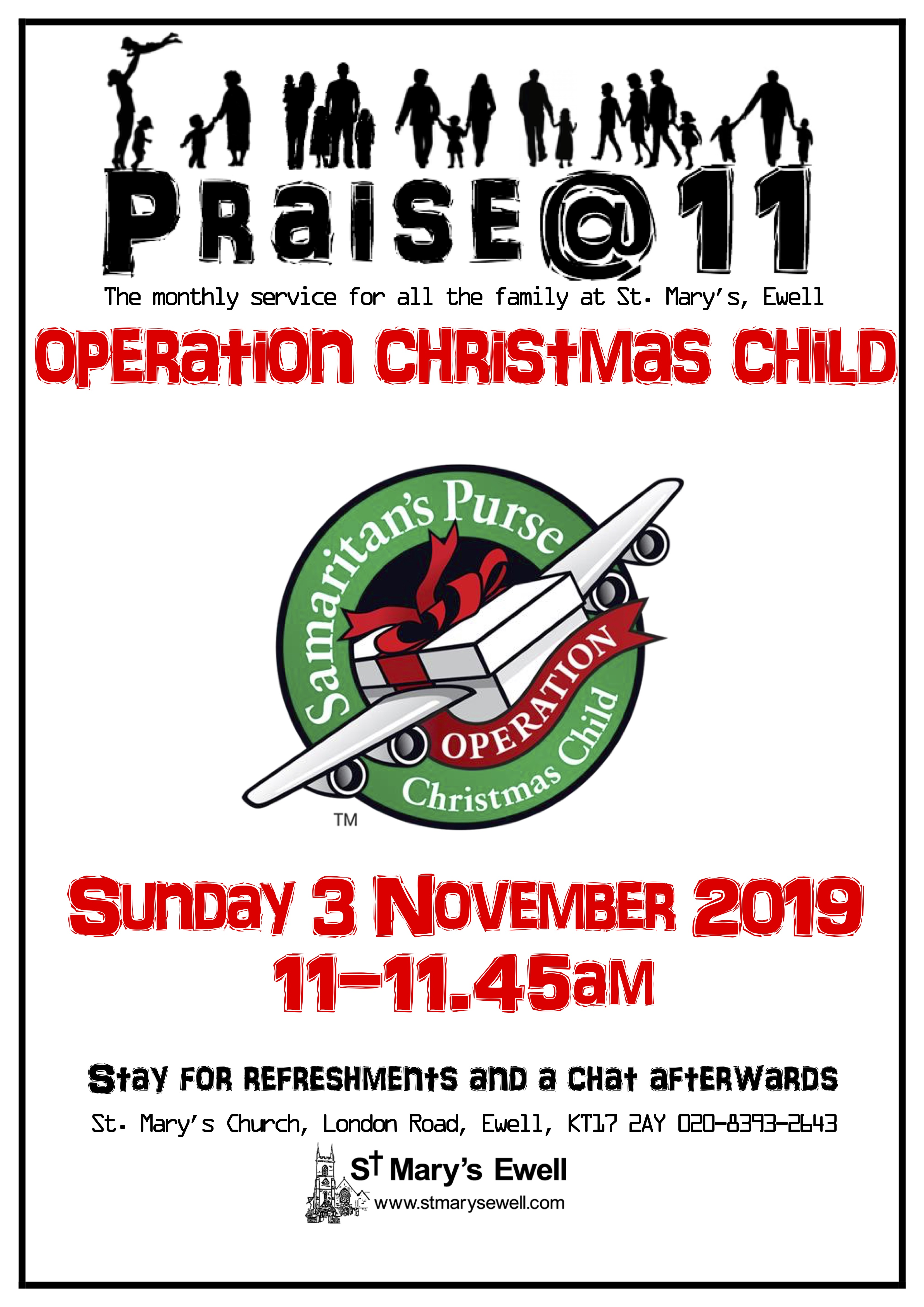 Christmas Operation Child.Praise 11 Operation Christmas Child St Mary S Ewell