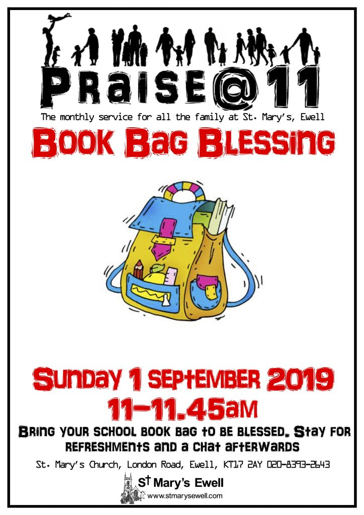Praise@11 Book Bag Blessing