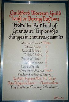 Peal Board 1992