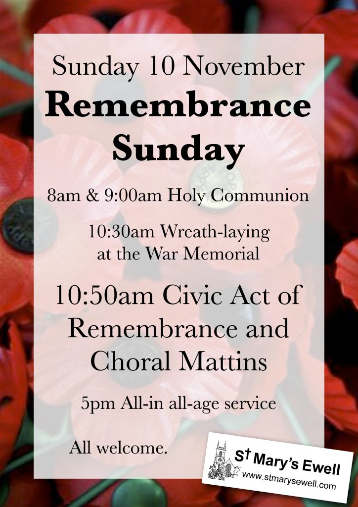 Remembrance Sunday Civic Service and Choral Mattins