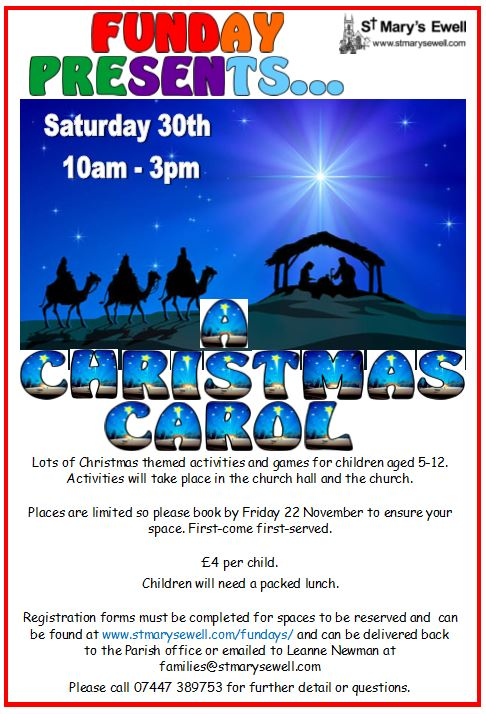 A Christmas Carol fun day