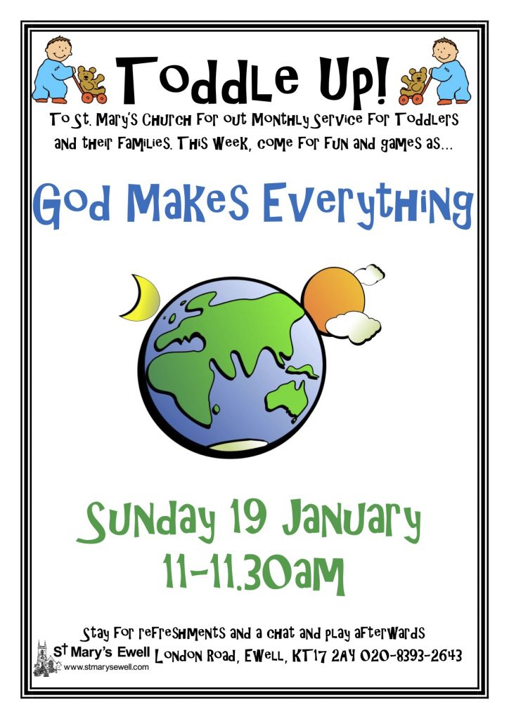 Toddle Up! God Makes Everything